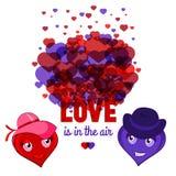 L'amore è nella cartolina d'auguri aero- per il giorno del ` s del biglietto di S. Valentino della st Fotografia Stock