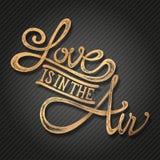 L'amore è nella frase aero- Immagini Stock