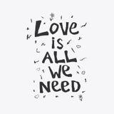 L'amore è tutto che abbiamo bisogno di Illustrazione Vettoriale