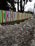 L'amore è una neve sporca Eugene di scelta immagini stock
