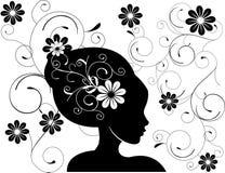 L'amore astratto delle donne fiorisce l'illustrazione   Fotografia Stock Libera da Diritti