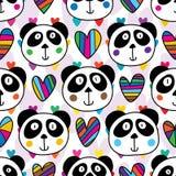 L'amore capo del panda molti ama il modello senza cuciture illustrazione vettoriale