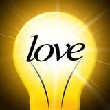 L'amore del cuore rappresenta il giorno ed il ragazzo di biglietti di S. Valentino Immagini Stock
