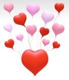 l'amore del galleggiante 3D colora il cuore Immagini Stock Libere da Diritti