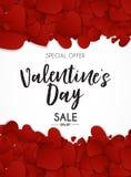 L'amore del giorno del ` s del biglietto di S. Valentino ed il fondo di vendita di sensibilità progettano Fotografia Stock Libera da Diritti