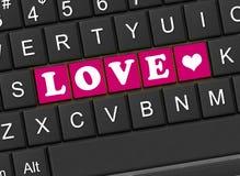 L'amore dell'iscrizione Fotografie Stock