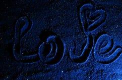 L'amore dell'iscrizione Fotografia Stock Libera da Diritti