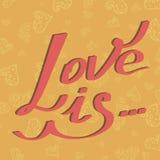 L'amore della carta è Immagini Stock Libere da Diritti