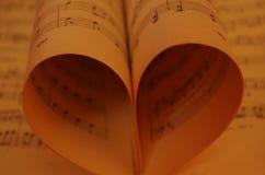 L'amore di musica Fotografia Stock