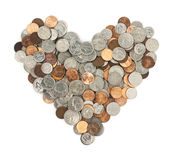 L'amore di soldi Immagini Stock Libere da Diritti