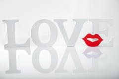 L'amore esprime il testo Fotografie Stock Libere da Diritti