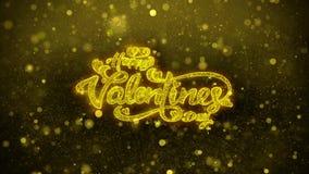 L'amore felice di San Valentino desidera la cartolina d'auguri, l'invito, fuoco d'artificio della celebrazione illustrazione di stock