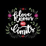 L'amore non conosce limiti illustrazione di stock
