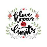 L'amore non conosce limiti illustrazione vettoriale