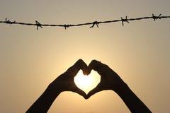 L'amore non ha frontiere Fotografia Stock Libera da Diritti
