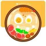 L'amore per l'illustrazione giapponese dell'alimento Fotografia Stock