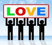 L'amore romanzesco rappresenta la datazione e la tenerezza del cuore royalty illustrazione gratis