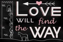 L'amore troverà il modo Fotografie Stock Libere da Diritti
