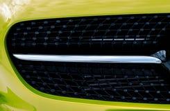 L'amortisseur avant automatique de pare-chocs de voiture de butoir de radiateur partie l'aut en plastique Photo libre de droits