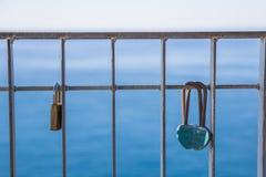 L'amour éternel dans un cadenas Image libre de droits