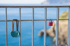 L'amour éternel dans un cadenas Photo stock