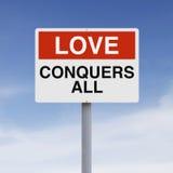 L'amour conquiert tous Photo libre de droits