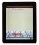 L'amour a défini sur le clavier numérique de la garniture Images libres de droits