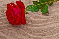 L'amour a détruit sur une plage Photo libre de droits