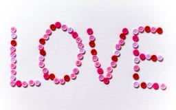 L'amour d'inscription Photo stock