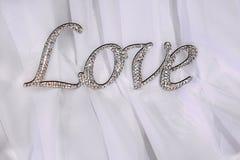 L'amour d'inscription des cristaux Image stock