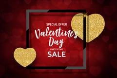 L'amour de jour du ` s de Valentine et le fond de vente de sentiments conçoivent Illustration de vecteur Photo libre de droits