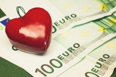 L'amour de l'argent Image libre de droits