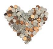 L'amour de l'argent Images libres de droits