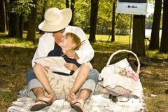 L'amour de l'enfant Images libres de droits
