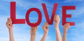 L'amour de lettres Images libres de droits