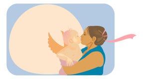 L'amour de mère illustration de vecteur