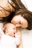 L'amour de mère. Photographie stock
