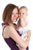 L'amour de mère. Chéri avec la mère Images stock