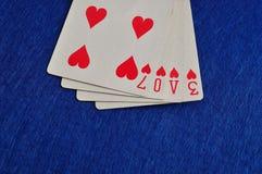 L'amour de mot écrit avec jouer des cartes Photo stock