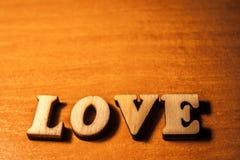L'amour de mot Images stock