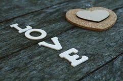 L'amour de mot Photo stock