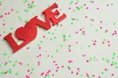 L'amour de mot Image libre de droits