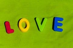 L'amour de mot composé des lettres Images libres de droits