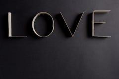 L'amour de mot composé des lettres de carton Image libre de droits