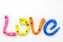 l'amour de mot dans l'alphabet coloré pour la valentine Photos libres de droits