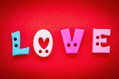 L'amour de mot, dans les lettres Images libres de droits