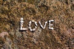 L'amour de mot des coraux Images stock
