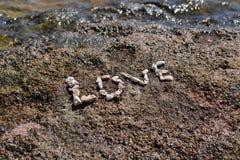 L'amour de mot des coraux Images libres de droits