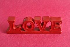L'amour de mot en rouge Photographie stock