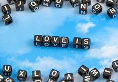 L'amour de mot est Photographie stock